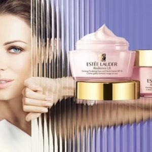 ESTEE LAUDER Resilience Lift Night Firming/Sculpting Face and Neck Creme 15 ml กลางคืน